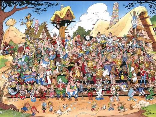 Asterix : village gaulois