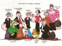 The Cast of Thimble Theatre