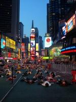 Time Square, heure du yoga