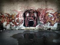 Scène sur un mur