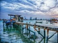 Bahreïn : Porte colorée
