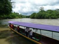 En pirogue sur l'Amazone