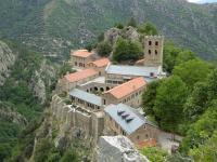 L'abbaye vue en descendant