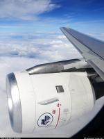 Réacteur A320 en vol